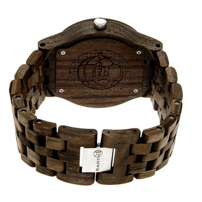 Earth Wood Dark Brown Bracelet Watch with Date ETHEW3202