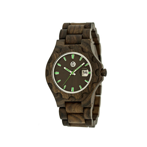 Earth Wood Gila Dark Brown Bracelet Watch with Date ETHEW3302