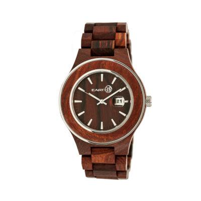 Earth Wood Cherokee Red Bracelet Watch with Date ETHEW3403