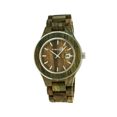 Earth Wood Cherokee Olive Bracelet Watch with Date ETHEW3404