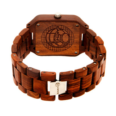 Earth Wood Arapaho Red Bracelet Watch with Date ETHEW3603