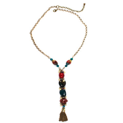 Aris by Treska Necklace with Tassel