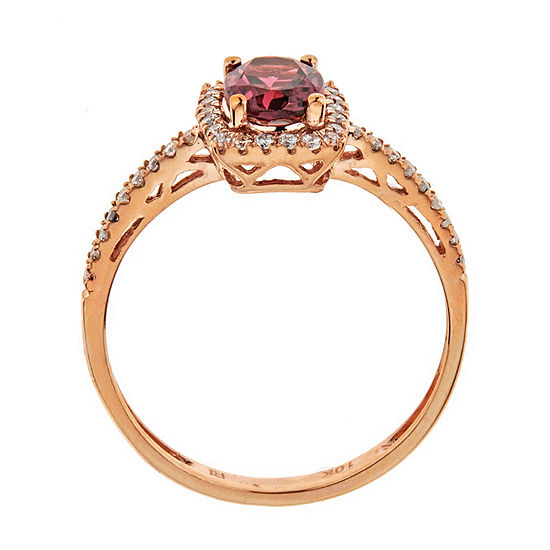 LIMITED QUANTITIES  Pink Tourmaline &  Diamond 10K Rose Gold Ring