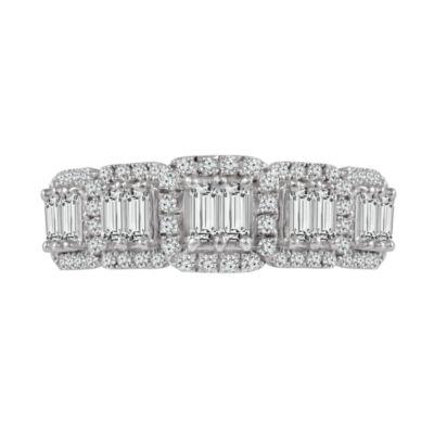 Diamond 10K White Gold Engagement Ring 1