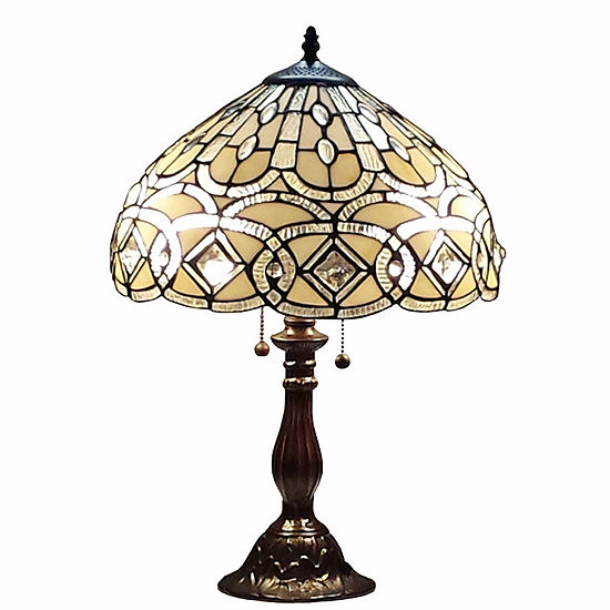 Amora Lighting™ Tiffany Style Geometric Table Lamp
