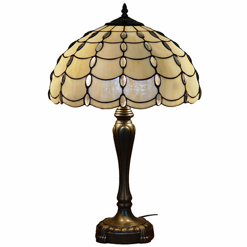 Amora Lighting™ Tiffany Style Cascades Table Lamp