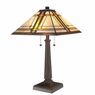 Amora Lighting™ Tiffany Style Mission Table Lamp