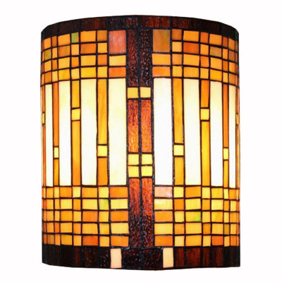 Amora Lighting™ Tiffany Style Mission Wall Sconce