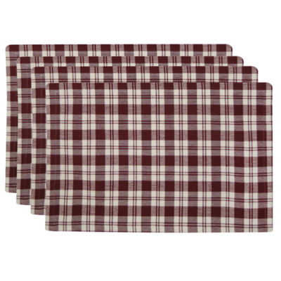 Metro Farmhouse By Park B. Smith® Set of 4 Plaid Placemats
