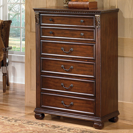 Jcpenneyfurniture: Signature Design By Ashley® Leahlyn 5-Drawer Chest