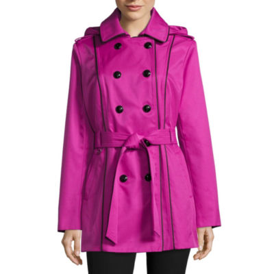 Worthington Twill Hooded Lightweight Trench Coat
