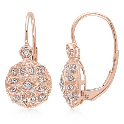 1/8 CT. T.W. Genuine White Diamond 14K Gold Ear Cuffs