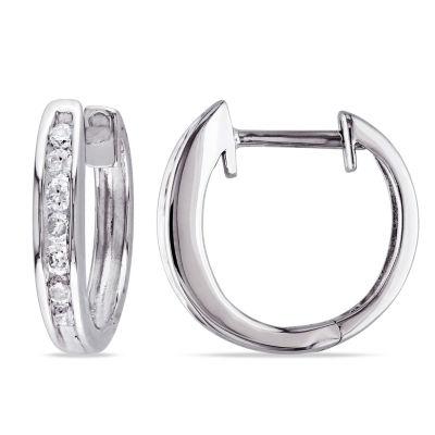 1/4 CT. T.W. Genuine White Diamond 10K Gold Ear Cuffs