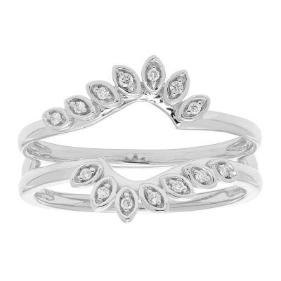 Womens Diamond Accent Genuine White Diamond 14K Gold Ring Enhancer