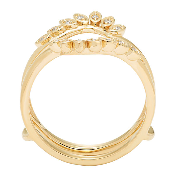 Womens Diamond Accent White Diamond 14K Gold Ring Enhancer