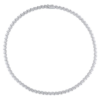 Womens 17 Inch 1/2 CT. T.W. White Diamond Tennis Necklaces