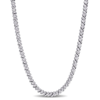 Womens 17 Inch 1 CT. T.W. White Diamond Tennis Necklaces