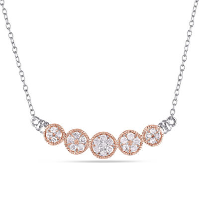 Womens 18 Inch 1/2 CT. T.W. White Diamond Tennis Necklaces
