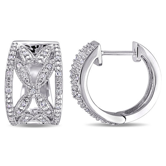 1 4 Ct Tw Genuine White Diamond Sterling Silver Ear Cuffs