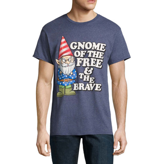Fourth of July Gnome Of The Free Graphic Tee