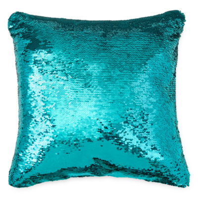 Decorative Pillows With Sequins : JCPenney Home Mermaid Square Sequins Decorative Pillow - JCPenney