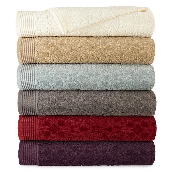 Royal Velvet Verona Sculpted Bath Towel Collection Jcpenney