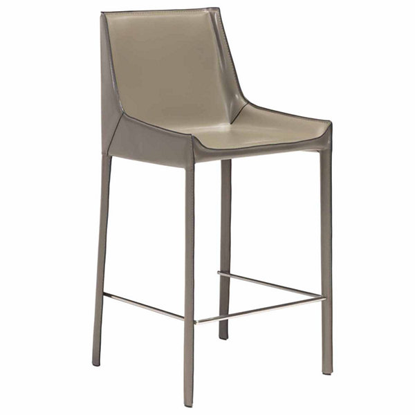 Fashion Recycled Leather 2-pc. Upholstered Bar Stool