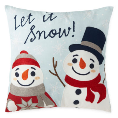 North Pole Trading Co. Let It Snow Throw Pillow