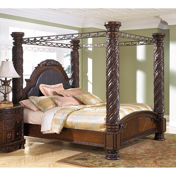 North Shore Poster Canopy Bedroom Set From Ashley B553: Signature Design By Ashley® North Shore King Canopy Bed