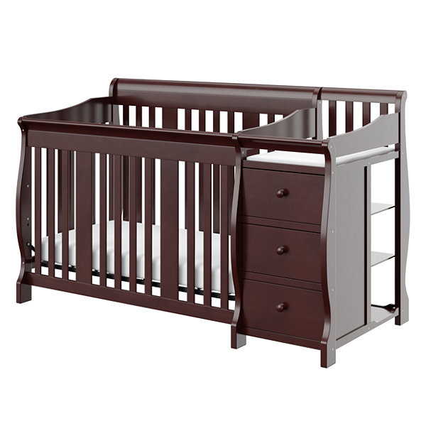 Storkcraft Portofino 4-in-1 Crib and Changer- Espresso