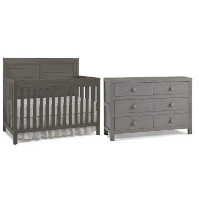 Attractive Tiamo Castello 2 PC Baby Furniture Set  Grey
