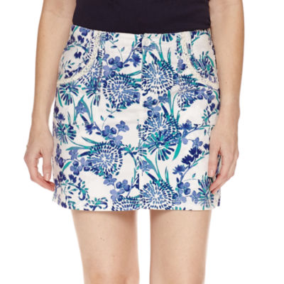 "St. John's Bay Floral Cotton Blend 5"" Skorts"