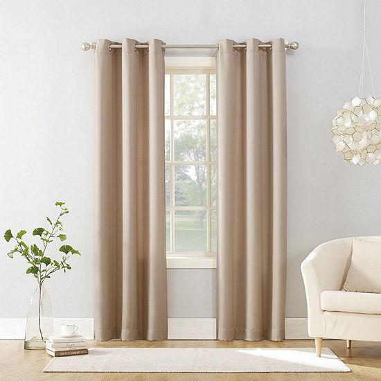 No 918 Valerie Light-Filtering Grommet-Top Single Curtain Panel