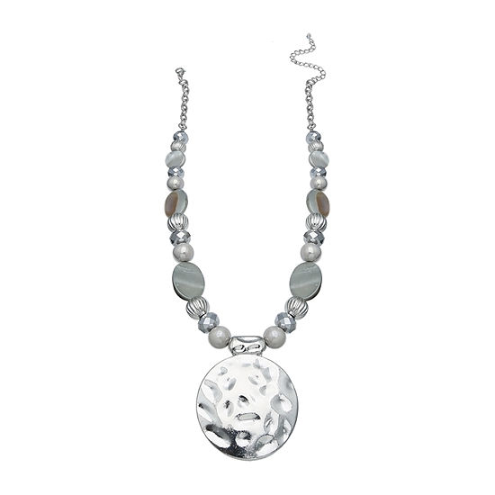 Mixit Grey Shell Womens Pendant Necklace