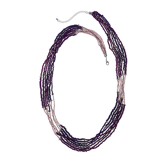 Mixit 42 Mixit Seedbead Womens Beaded Necklace