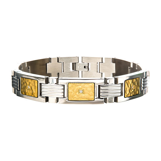 Stainless Steel 8 3/4 Inch Link Link Bracelet