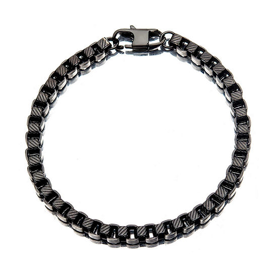 Stainless Steel 8 1 2 Inch Box Chain Bracelet