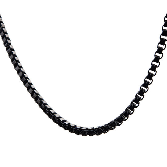 Stainless Steel 22 Inch Figaro Chain Necklace