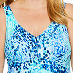 Azul by Maxine of Hollywood Confetti Swim Dress Plus