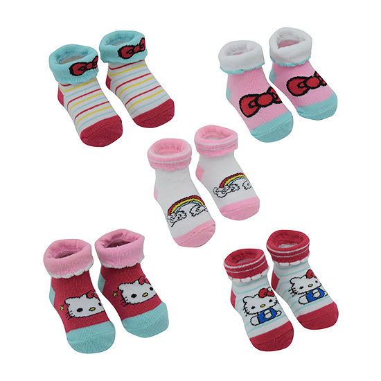 Hello Kitty 5 Pair Baby Booties-Baby