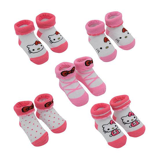 Hello Kitty 5 Pair Baby Booties-Baby