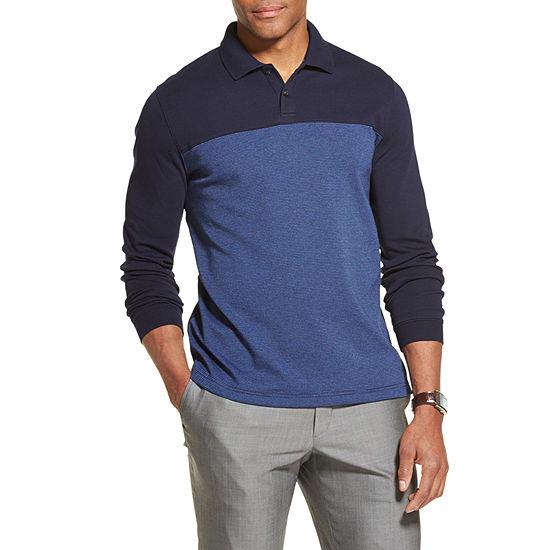 Van Heusen Flex Mens Long Sleeve Polo Shirt