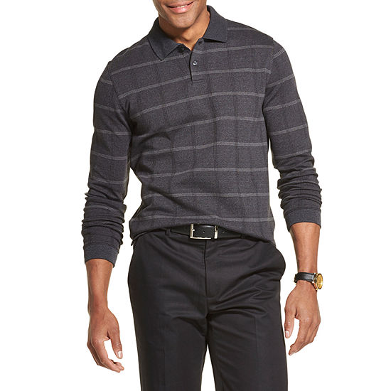Van Heusen Flex Mens Long Sleeve Polo Shirt