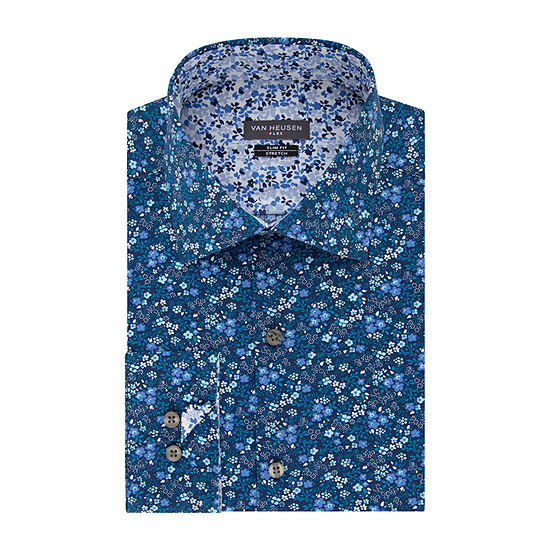 Van Heusen Mens Flex Collar Extra Slim Fit Stretch Long Sleeve Dress Shirt