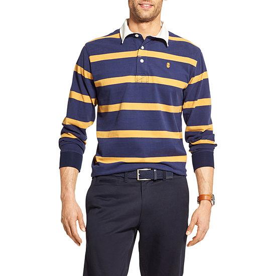 Para estrenar 7fca2 2780f IZOD Polo Mens Long Sleeve Rugby Shirt