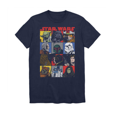 Mens Crew Neck Short Sleeve Star Wars Graphic T-Shirt-Big and Tall
