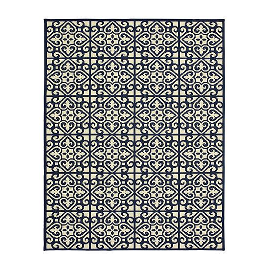 Covington Home Marissa Trefoil Rectangular Indoor/Outdoor Rugs