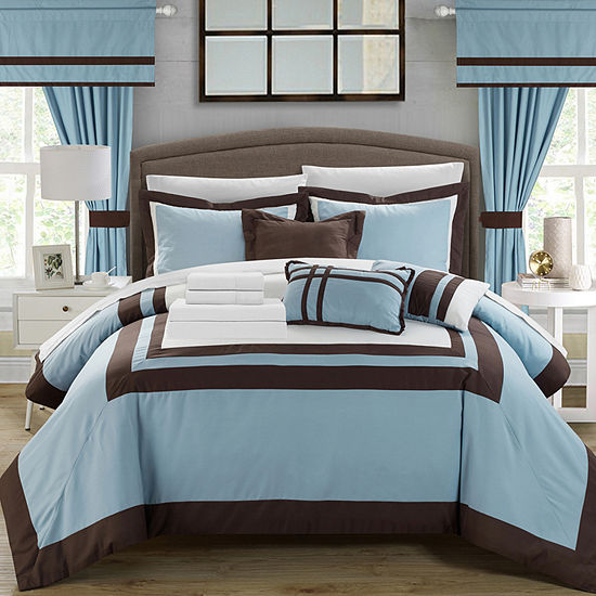 Chic Home Ritz 20 Pc Midweight Embroidered Comforter Set