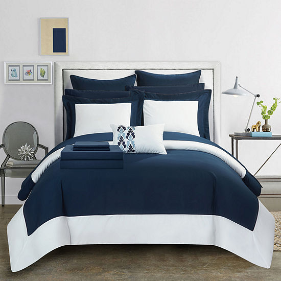 Chic Home Peninsula Midweight Embroidered Comforter Set