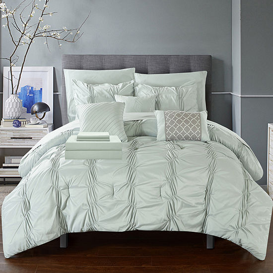 Chic Home Tori Set 10 Pc Midweight Comforter Set